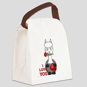 i love you alpaca Canvas Lunch Bag