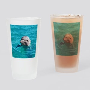 Dolphin Blue Water Drinking Glass