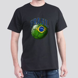 Flag of Brasil Soccer Ball T-Shirt