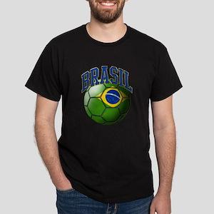Flag of Brasil Soccer Ball T-Shirt