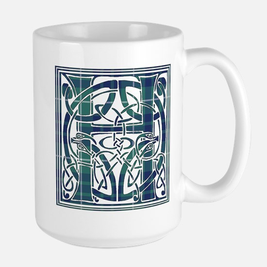 Monogram-Hamilton hunting Large Mug
