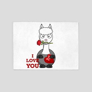 i love you alpaca 5'x7'Area Rug