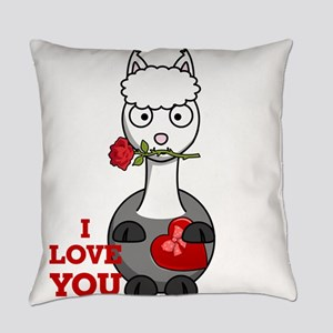 i love you alpaca Everyday Pillow