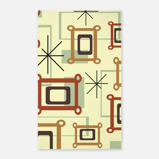 1950s Abstract Pop Art Area Rug