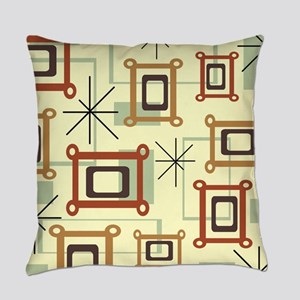 1950s Abstract Pop Art Everyday Pillow