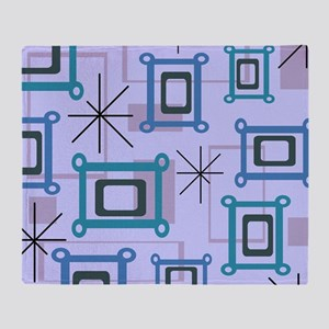 1950s Abstract Pop Art Throw Blanket