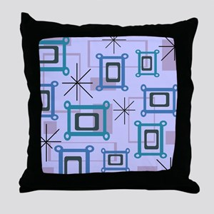 1950s Abstract Pop Art Throw Pillow