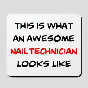 awesome nail technician Mousepad
