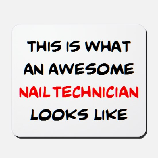 awesome nail technician Mousepad