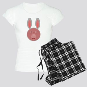 Bunny surprised us with big mouth open Pajamas