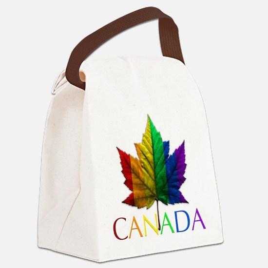 Gay Pride Canada Souvenir Canvas Lunch Bag