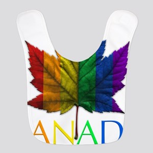 Gay Pride Canada Souvenir Polyester Baby Bib
