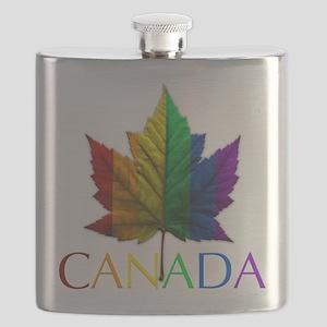 Gay Pride Canada Souvenir Flask