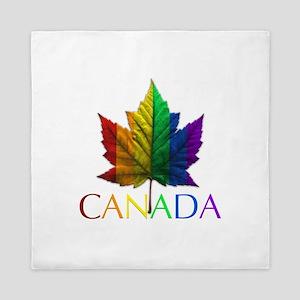 Gay Pride Canada Souvenir Queen Duvet