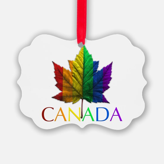 Gay Pride Canada Souvenir Ornament