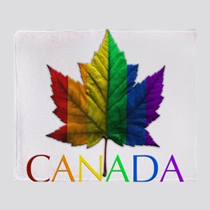 Gay Pride Canada Souvenir Throw Blanket