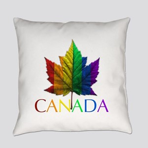 Gay Pride Canada Souvenir Everyday Pillow