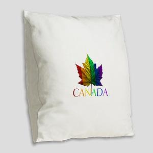 Gay Pride Canada Souvenir Burlap Throw Pillow