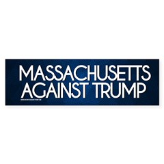 Massachusetts Against Trump Bumper Bumper Sticker