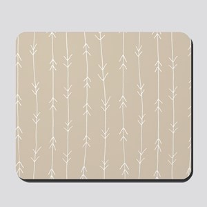 Brown, Beige: Arrows Pattern Mousepad