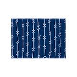 Navy blue arrow pattern area 5x7 Rugs