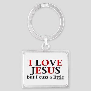 I Love Jesus but I Cuss Keychains