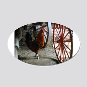 Country Rooster Wall Decal