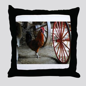 Country Rooster Throw Pillow