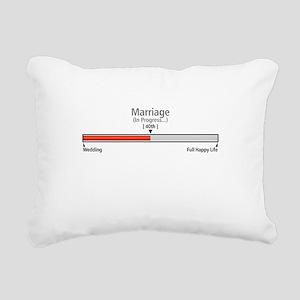 Progress Bar Marriage 40 Rectangular Canvas Pillow