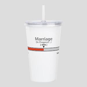 Marriage 40 - Acrylic Double-Wall Tumbler