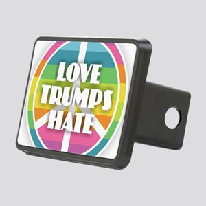 Love Trumps Hate Rectangular Hitch Cover