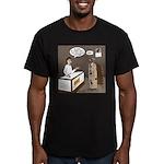 Turkey Shoot Men's Fitted T-Shirt (dark)