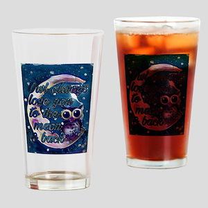 Owl always love u moon & back Drinking Glass