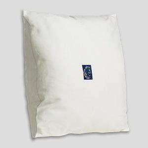 Owl always love u moon & back Burlap Throw Pillow