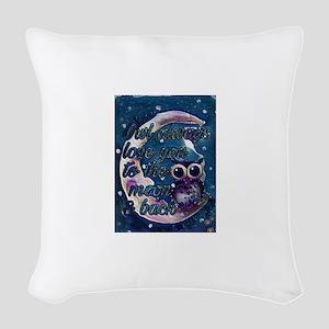 Owl always love u moon & back Woven Throw Pillow