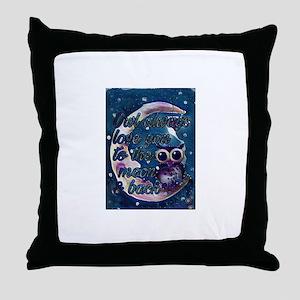 Owl always love u moon & back Throw Pillow