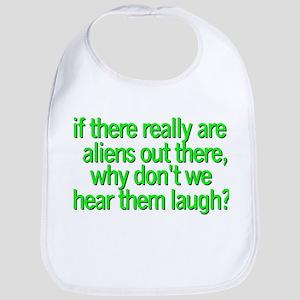 Aliens laugh Bib