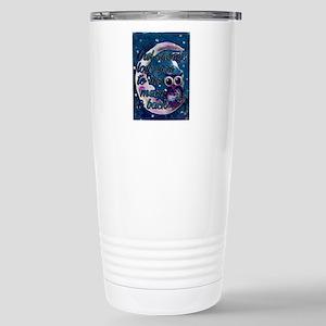 Owl always love u moon Stainless Steel Travel Mug