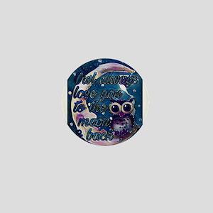 Owl always love u moon & back Mini Button