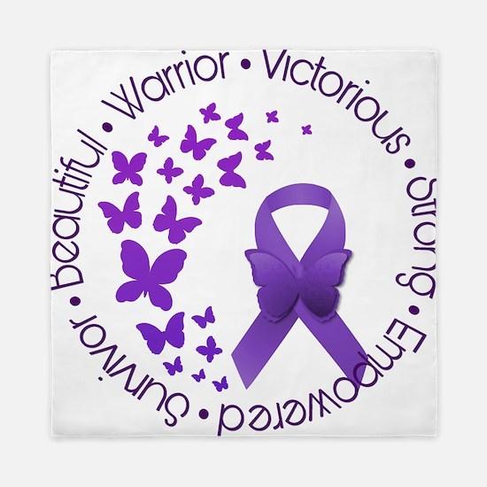 Purple Awareness Ribbon Queen Duvet
