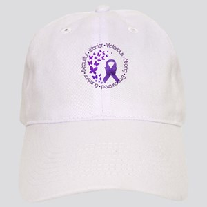 Purple Awareness Ribbon Baseball Cap