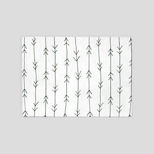 Green, Pine: Arrows Pattern 5'x7'Area Rug