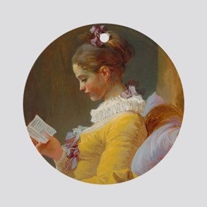 Young Girl Reading by Jean-Honoré Fragonard Round
