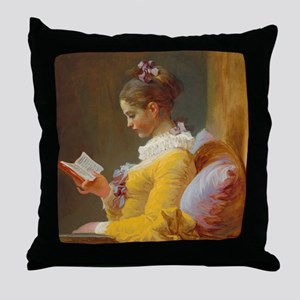 Young Girl Reading by Jean-Honoré Fragonard Throw