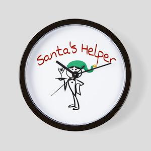 Santa's Helper Wall Clock