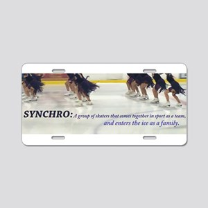 Synchro Defined Aluminum License Plate