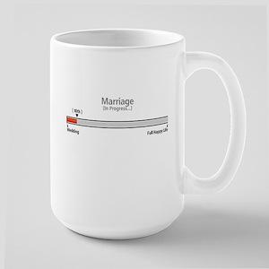 Progress Bar Marriage 10 - Large Mugs