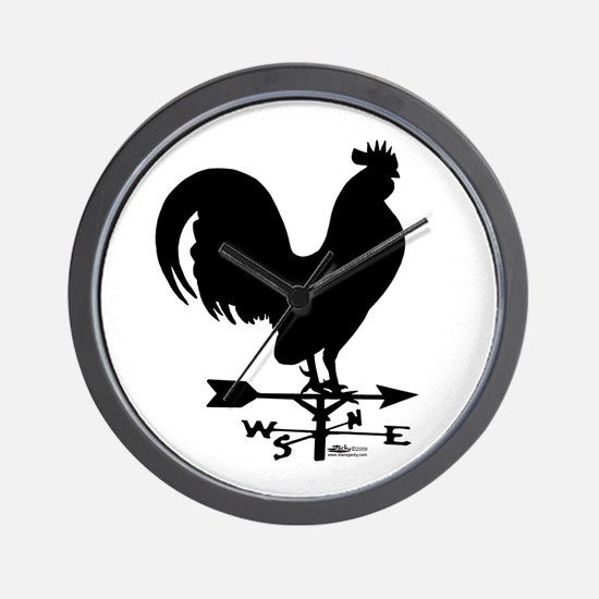 Rooster Weathervane Wall Clock