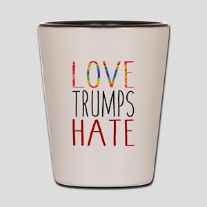 Love Trumps Hate Shot Glass