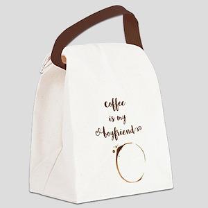 Coffee is my Boyfriend Canvas Lunch Bag